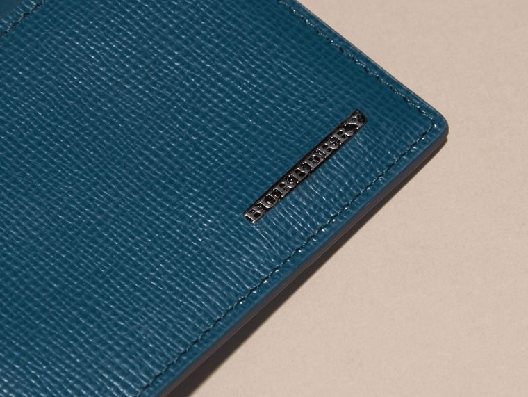 London Leather ID Wallet Mineral Blue - cell image 1