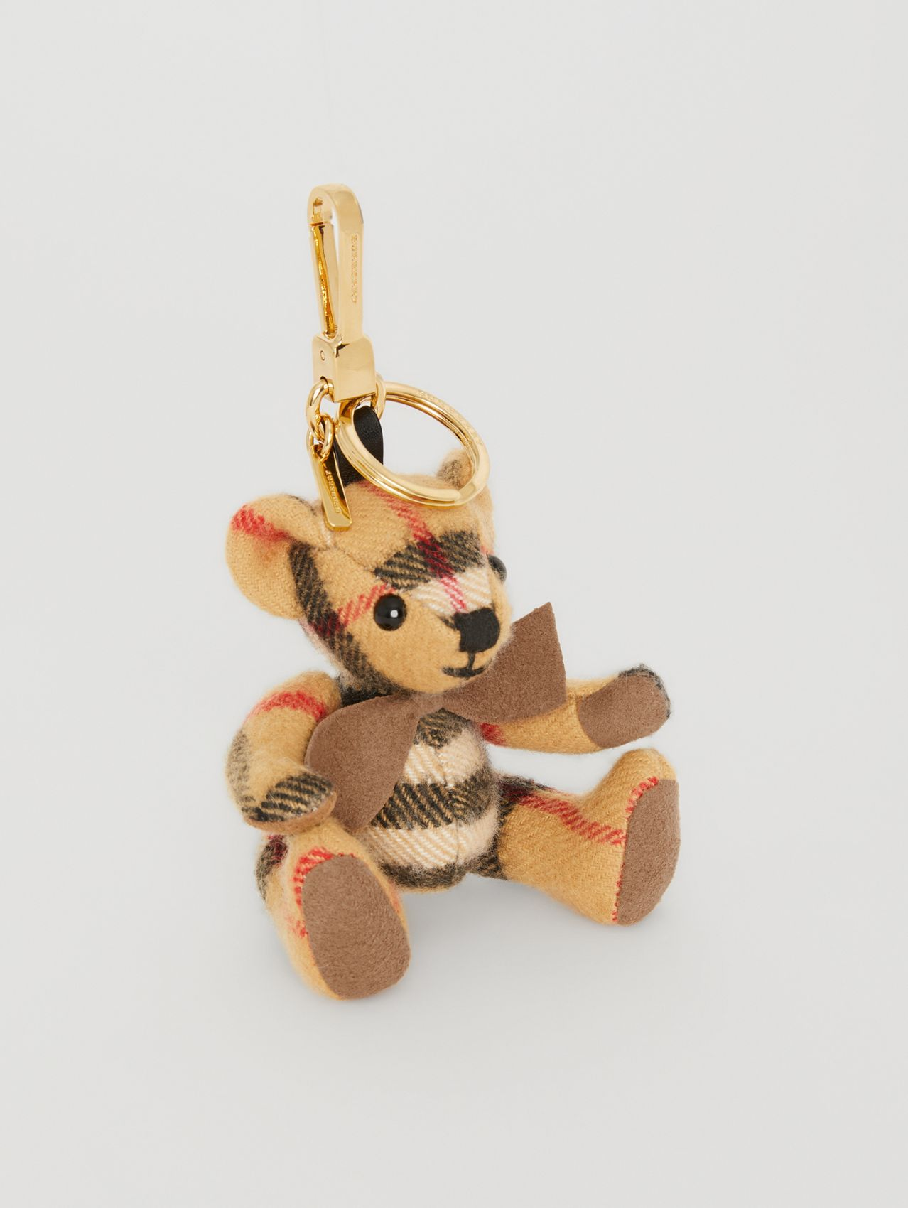 Thomas Bear Charm in Vintage Check Cashmere in Antique Yellow