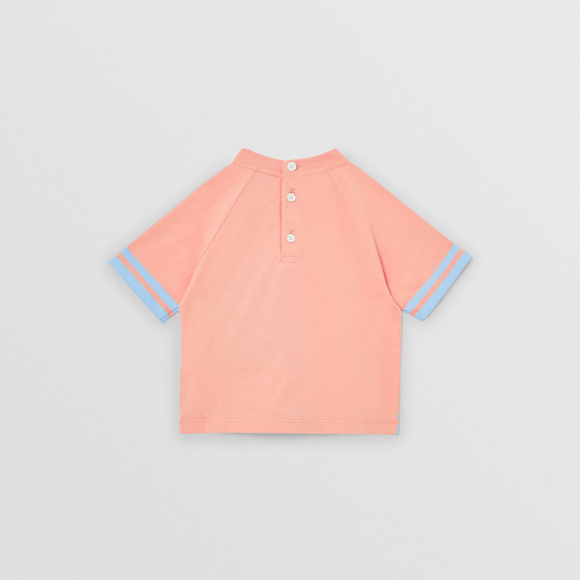 T-shirt en coton avec coordonnées géographiques (Pêche) - Enfant | Burberry Canada - photo de la galerie 3
