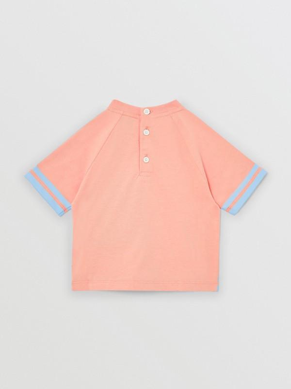 T-shirt en coton avec coordonnées géographiques (Pêche) - Enfant | Burberry Canada - cell image 3