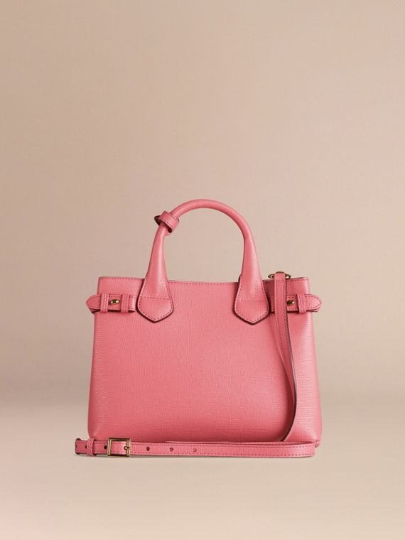 Sac The Banner medium en cuir et coton House check Rose Mauve - cell image 3