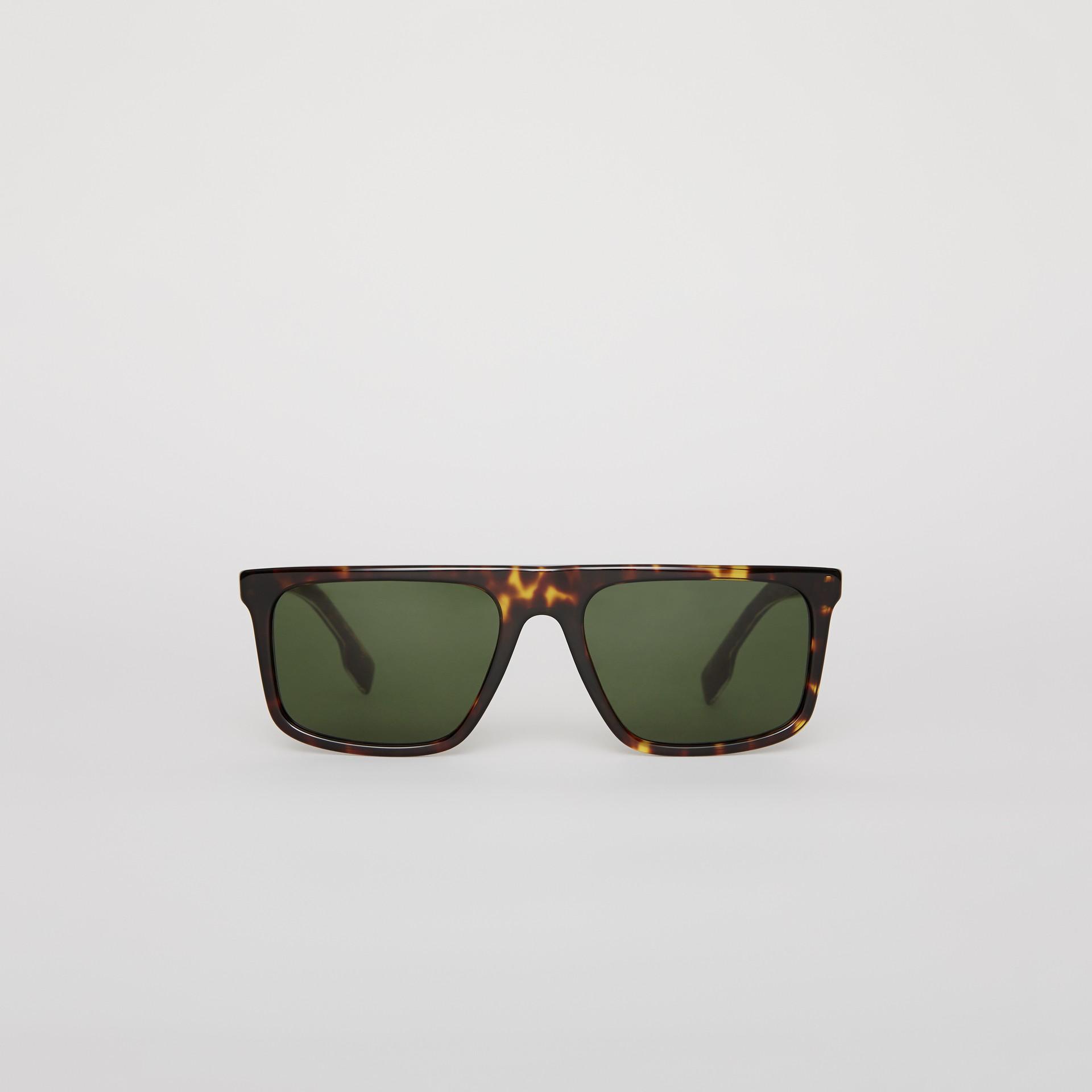 Óculos de sol com armação reta (Casco  Tartaruga) - Homens | Burberry - galeria de imagens 0
