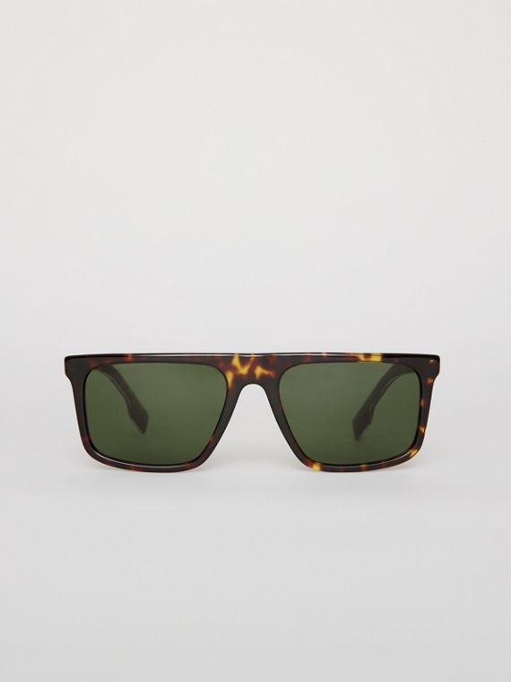 Straight-brow Sunglasses in Tortoise Shell