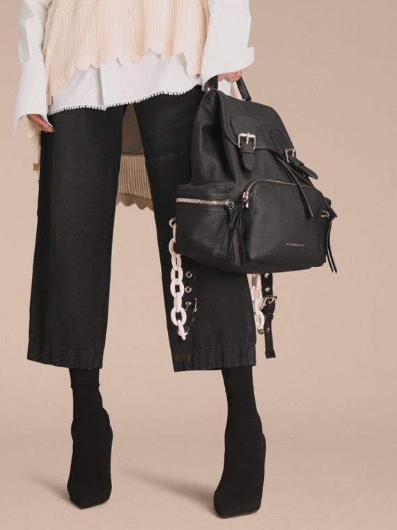 The Medium Rucksack in Deerskin with Resin Chain Black - cell image 2