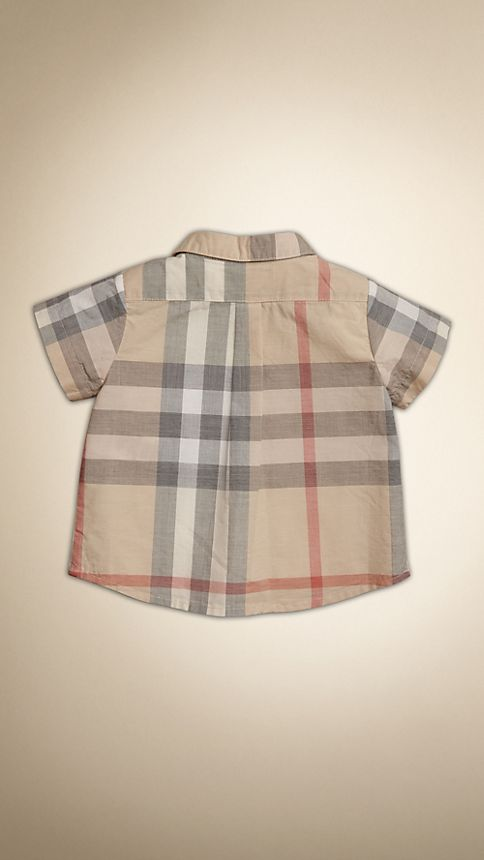 Pale classic check Washed Check Cotton Short Sleeve Shirt - Image 2