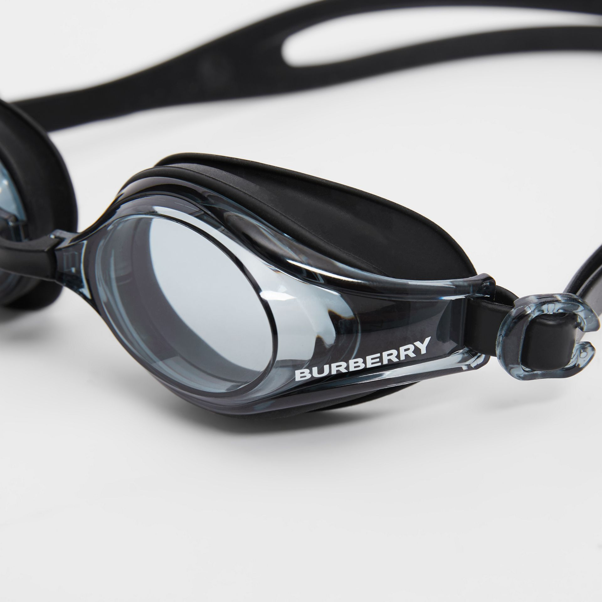 Logo Print Swimming Goggles in Black | Burberry United States - gallery image 7