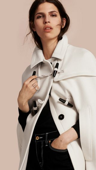 Wool Cashmere Duffle Cape Coat