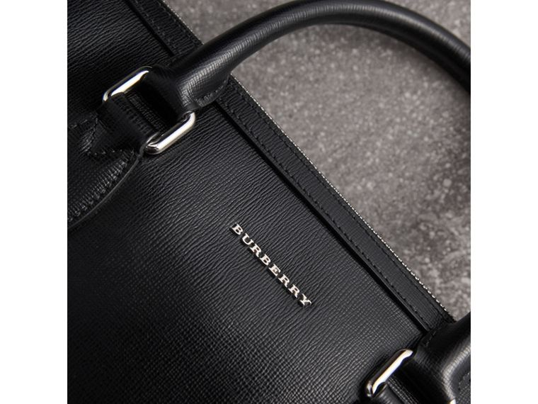 The Slim Barrow in London Leather in Black - Men | Burberry - cell image 1