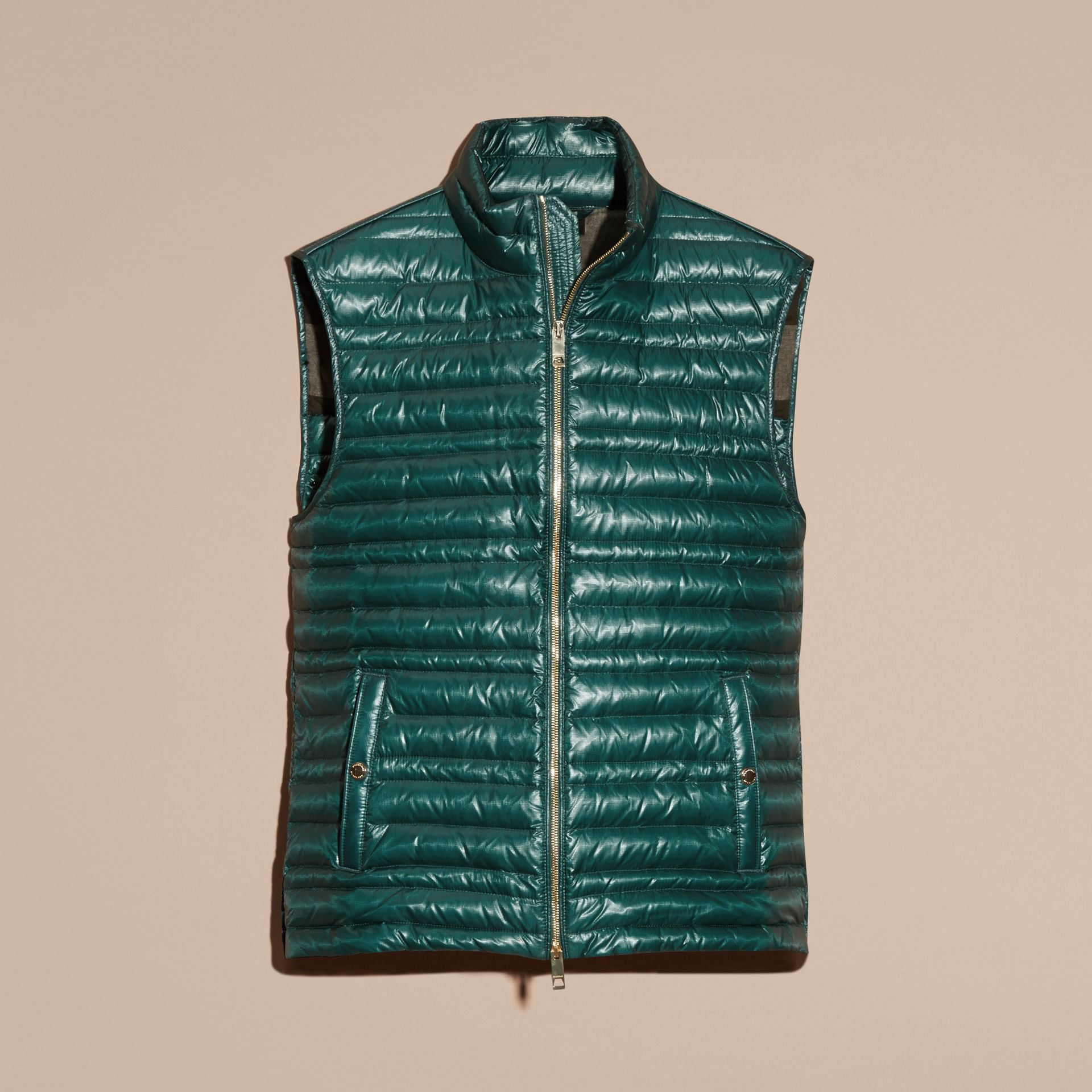 Pine green Lightweight Down-filled Gilet Pine Green - gallery image 4