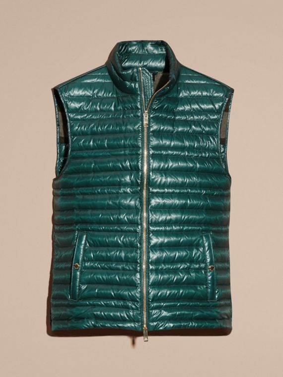 Pine green Lightweight Down-filled Gilet Pine Green - cell image 3