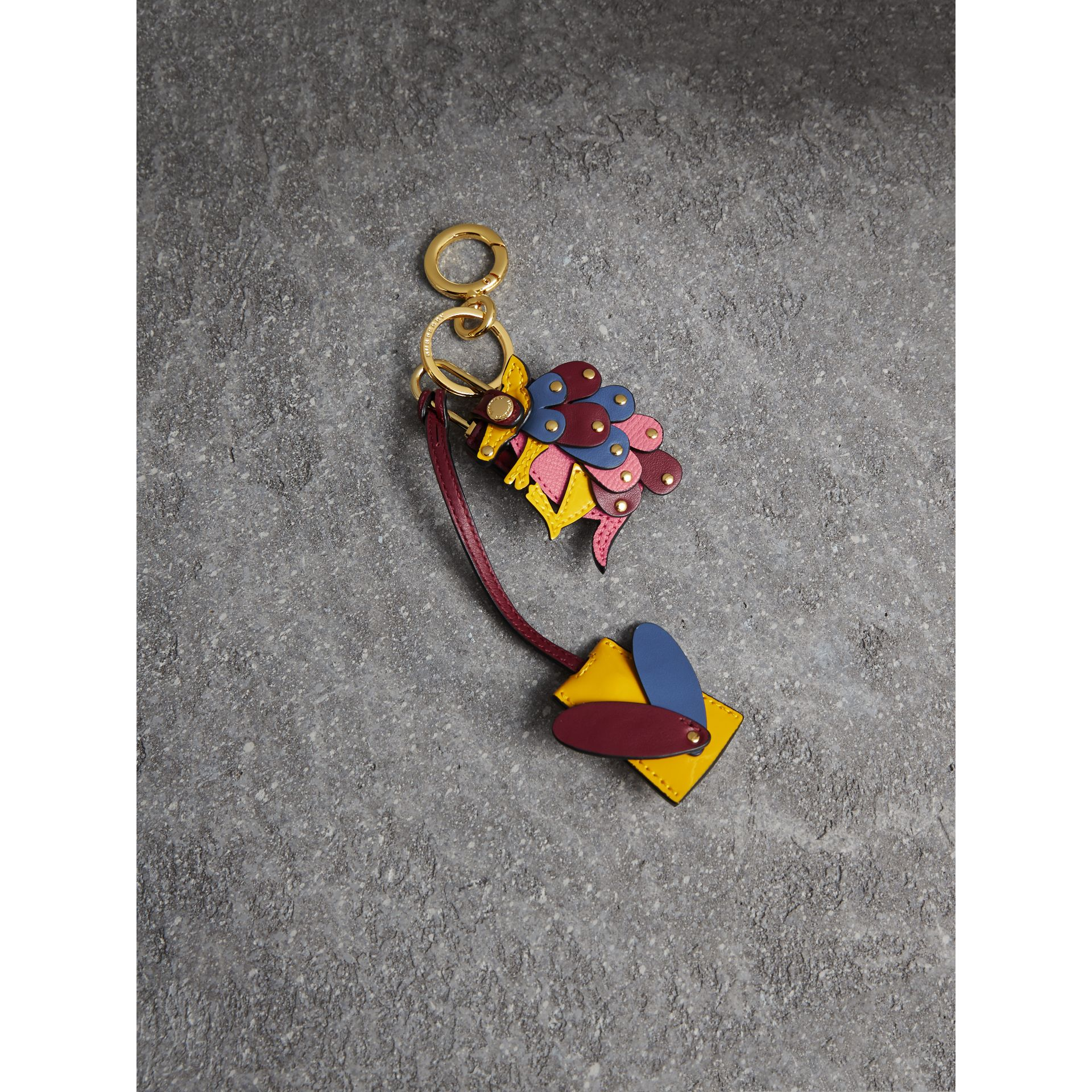 Beasts Leather Key Charm and Padlock - Women | Burberry Australia - gallery image 1