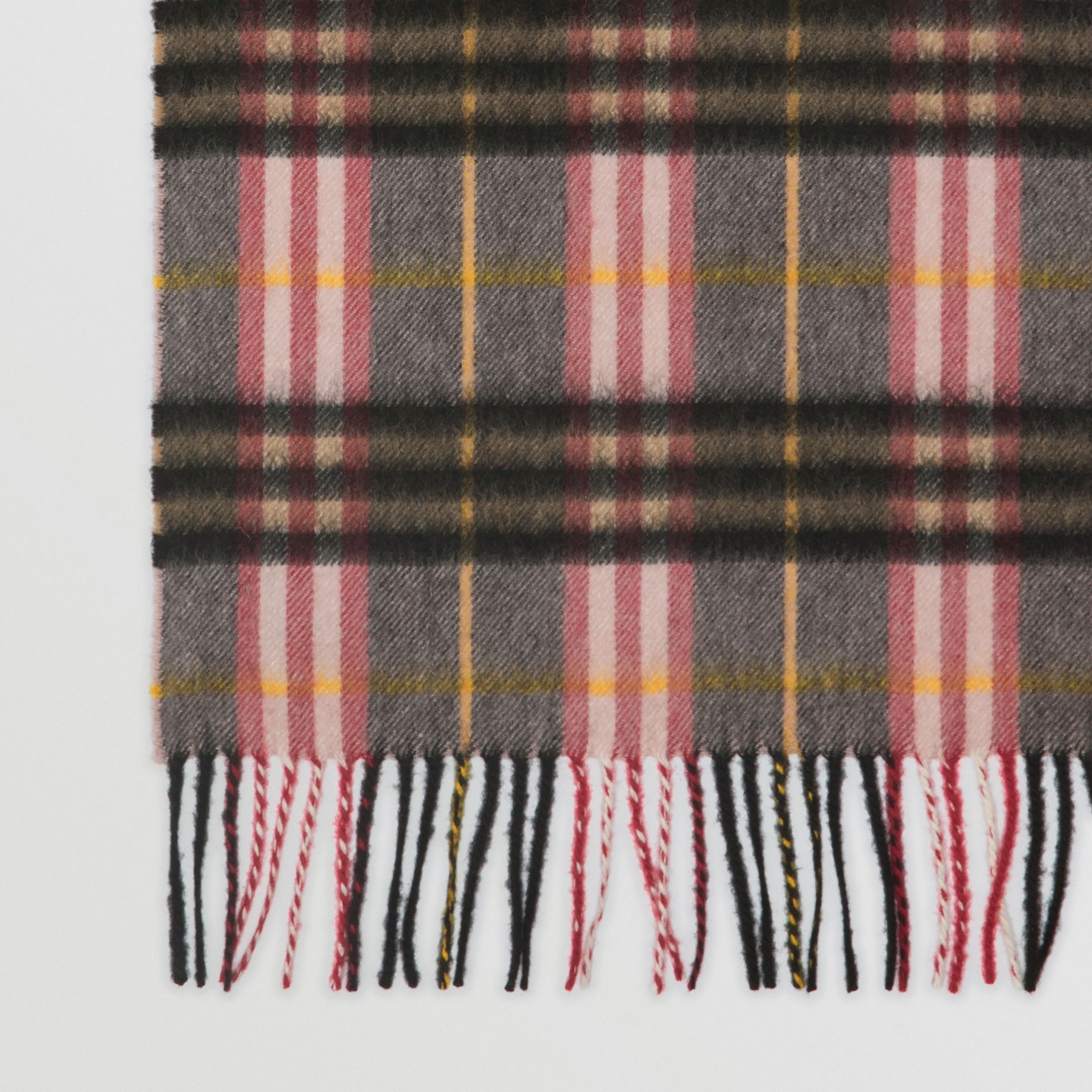 Check Cashmere Scarf in Ash Rose | Burberry United Kingdom - gallery image 1