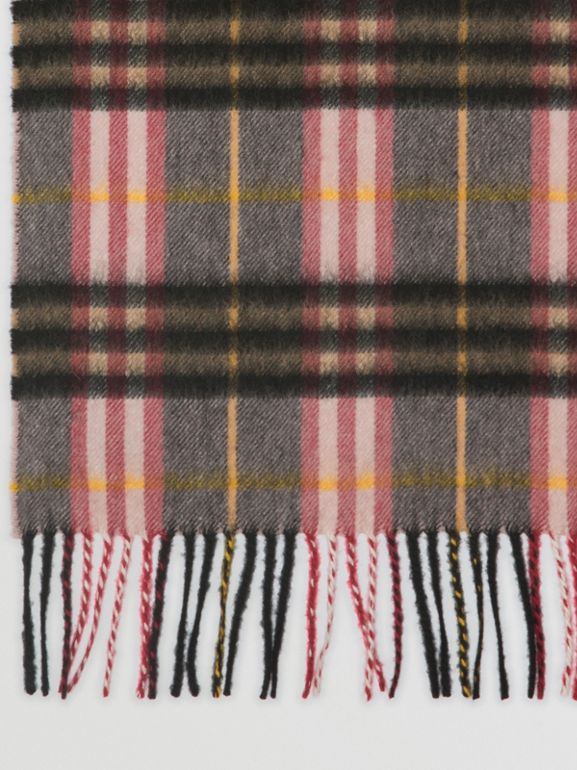 Check Cashmere Scarf in Ash Rose | Burberry United Kingdom - cell image 1