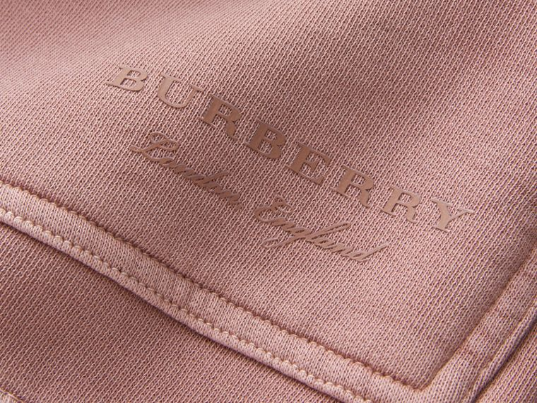 Unisex Pigment-dyed Cotton Oversize Sweatshirt Dusty Mauve - cell image 1