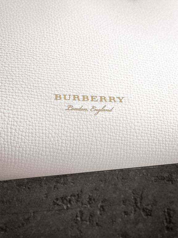 The Small Banner in Leather and House Check in Natural - Women | Burberry United Kingdom - cell image 1