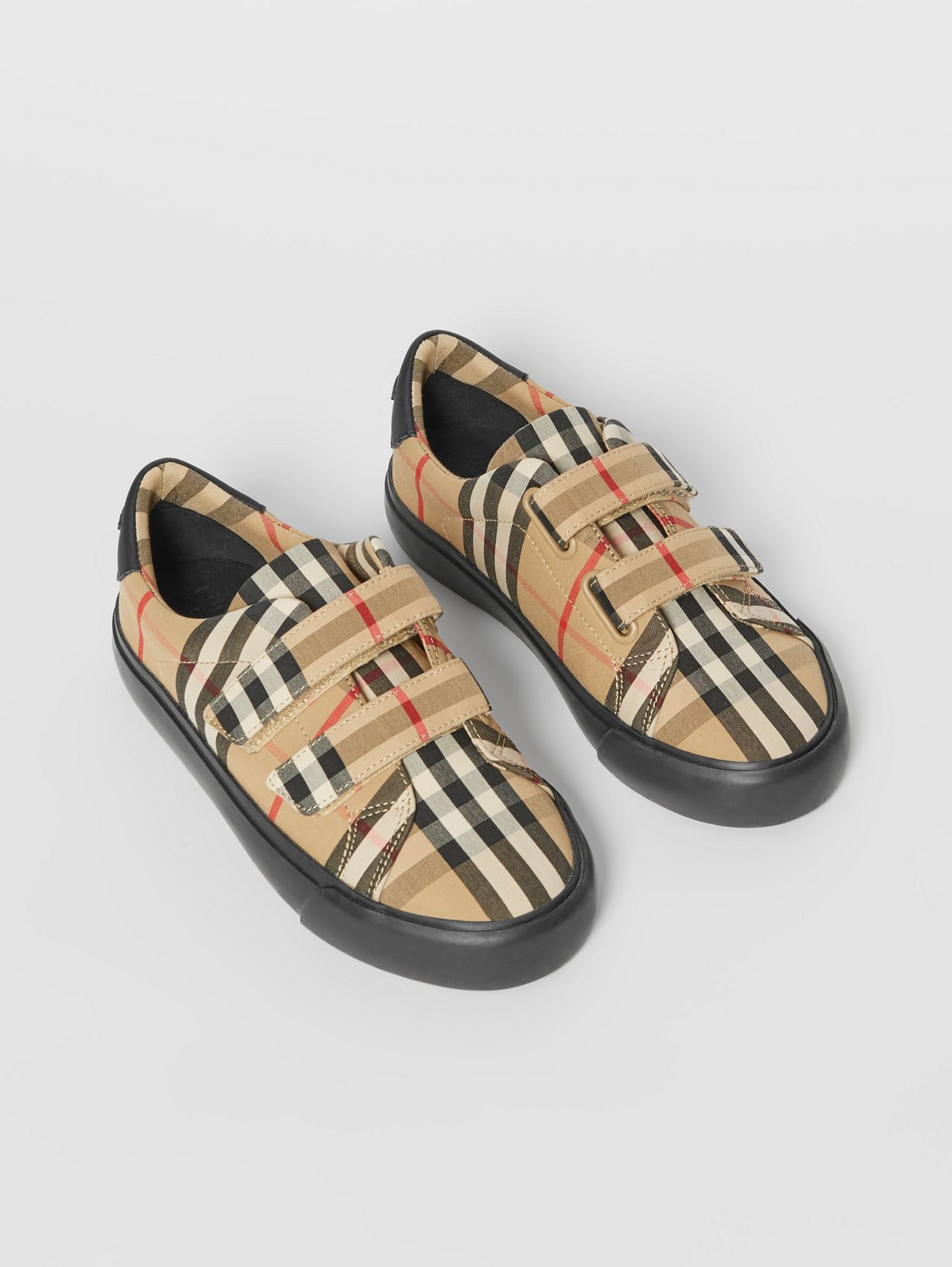 Vintage Check Cotton Sneakers (Archive Beige/black)