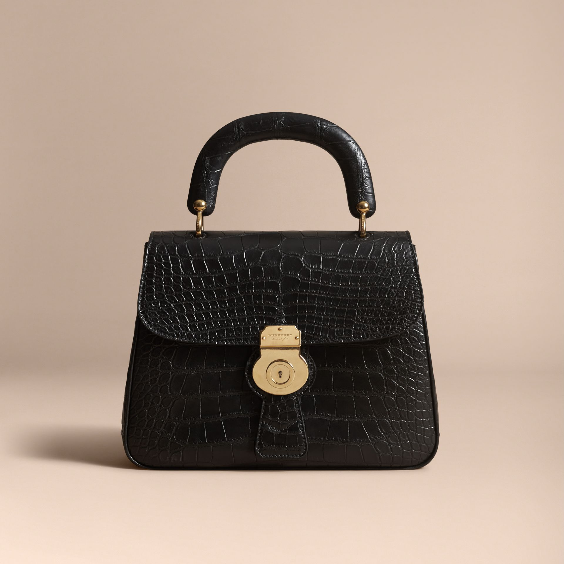 The Medium DK88 Top Handle Bag in Alligator in Black - Women | Burberry United Kingdom - gallery image 5