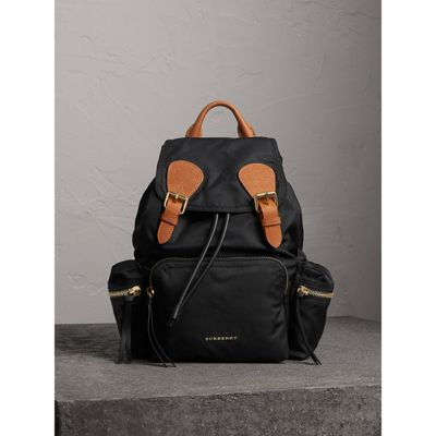 The Crossbody Rucksack in nylon and leather - Black Burberry Websites Sale Online Lowest Price Best Place Cheap Online 0ukuo