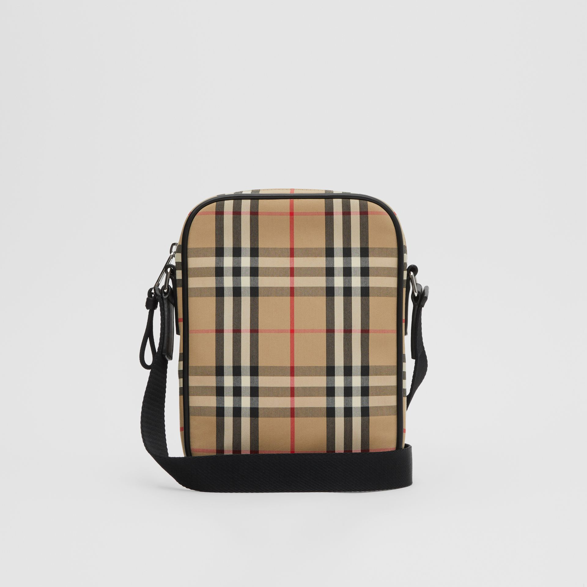 Vintage Check and Leather Crossbody Bag in Archive Beige - Men | Burberry - gallery image 7
