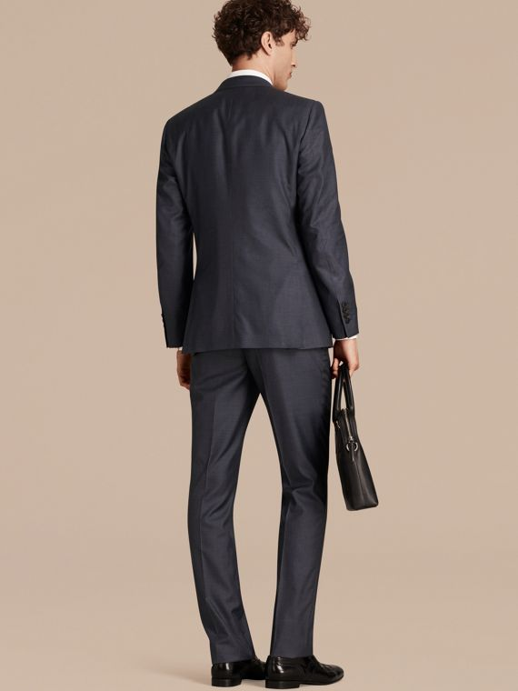 Dark pewter blue Modern Fit Wool Silk Half-canvas Suit - cell image 2