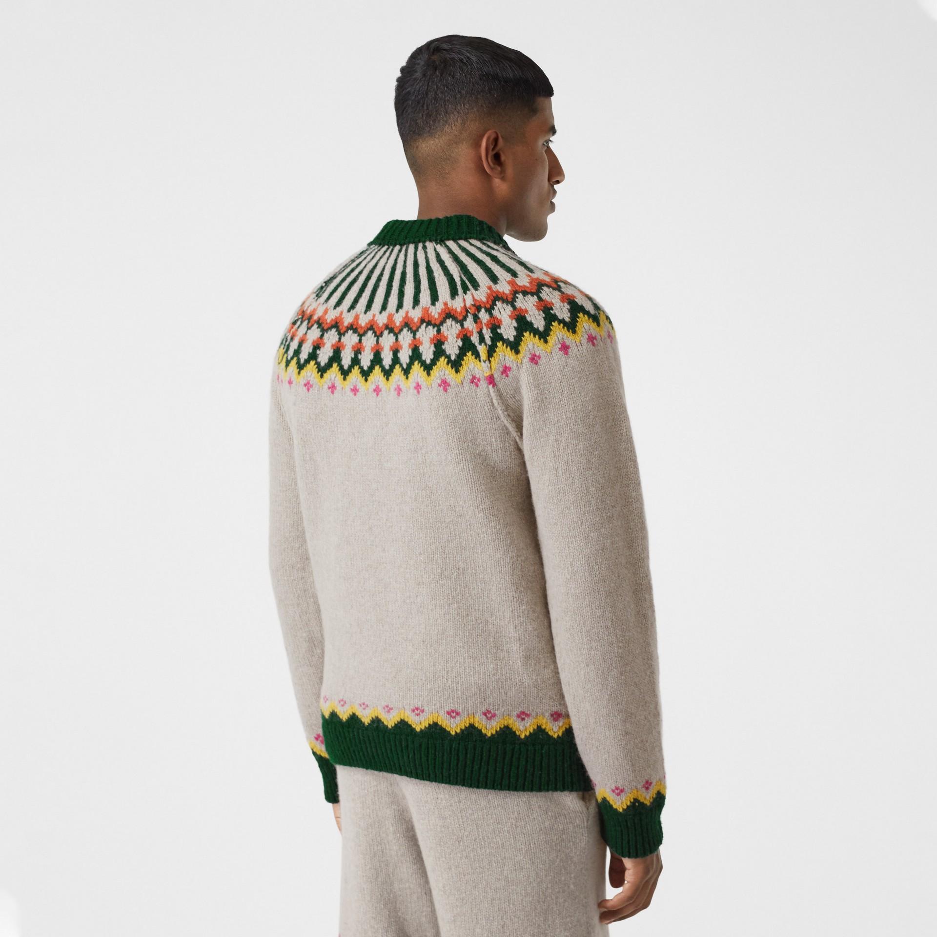 Fair Isle Wool Sweater in Sesame - Men | Burberry - gallery image 2