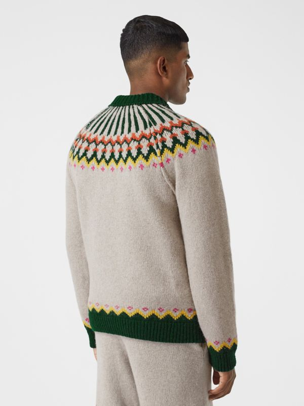 Fair Isle Wool Sweater in Sesame - Men | Burberry - cell image 2