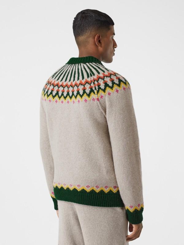 Pull en laine à motif Fair Isle (Sésame) - Homme | Burberry Canada - cell image 2