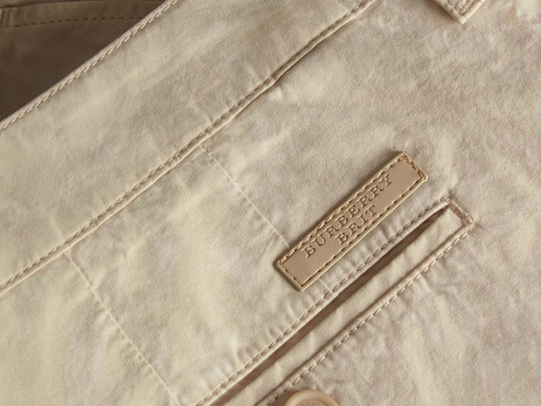 Cotton Poplin Chino Shorts in Stone - cell image 1