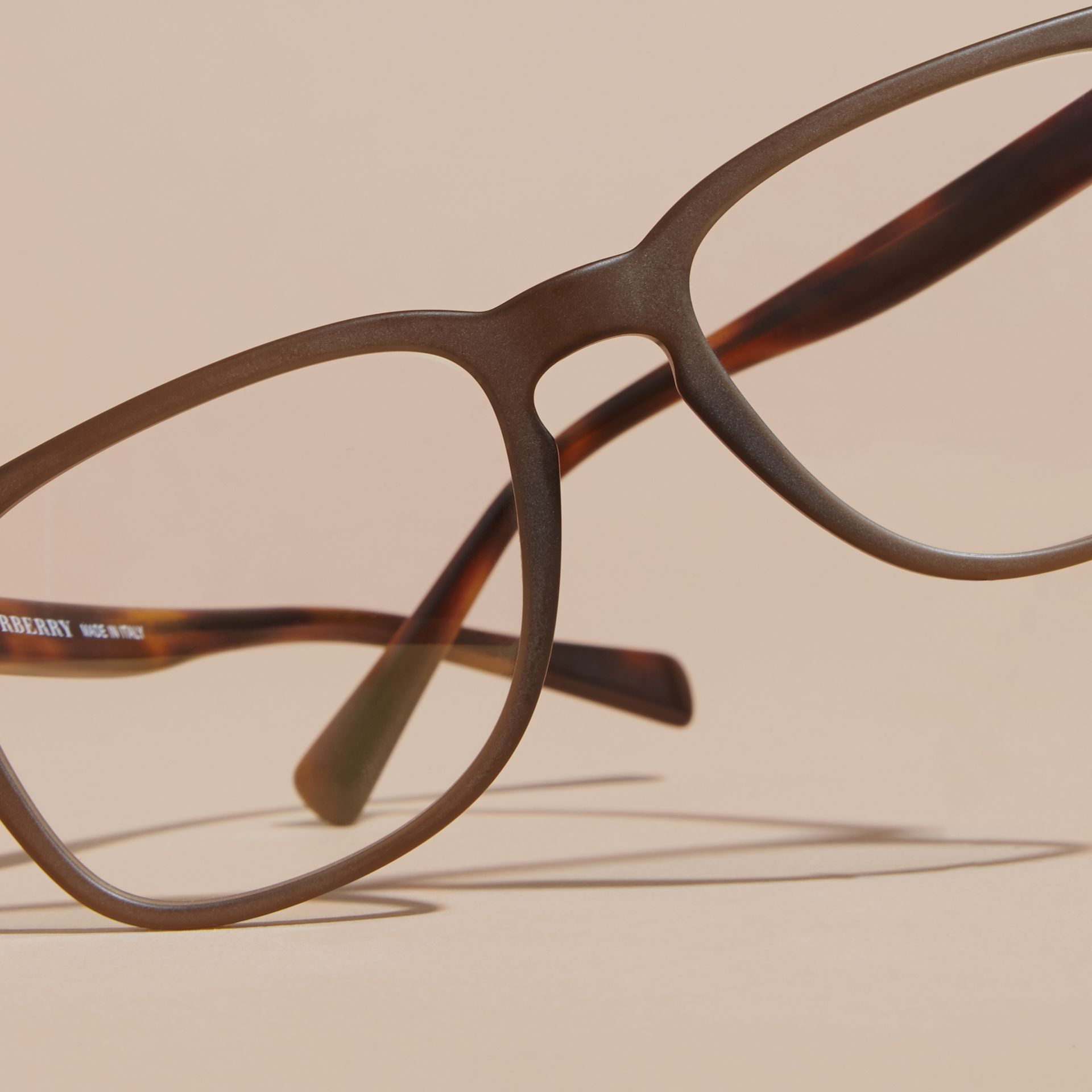 Square Optical Frames in Olive - gallery image 5