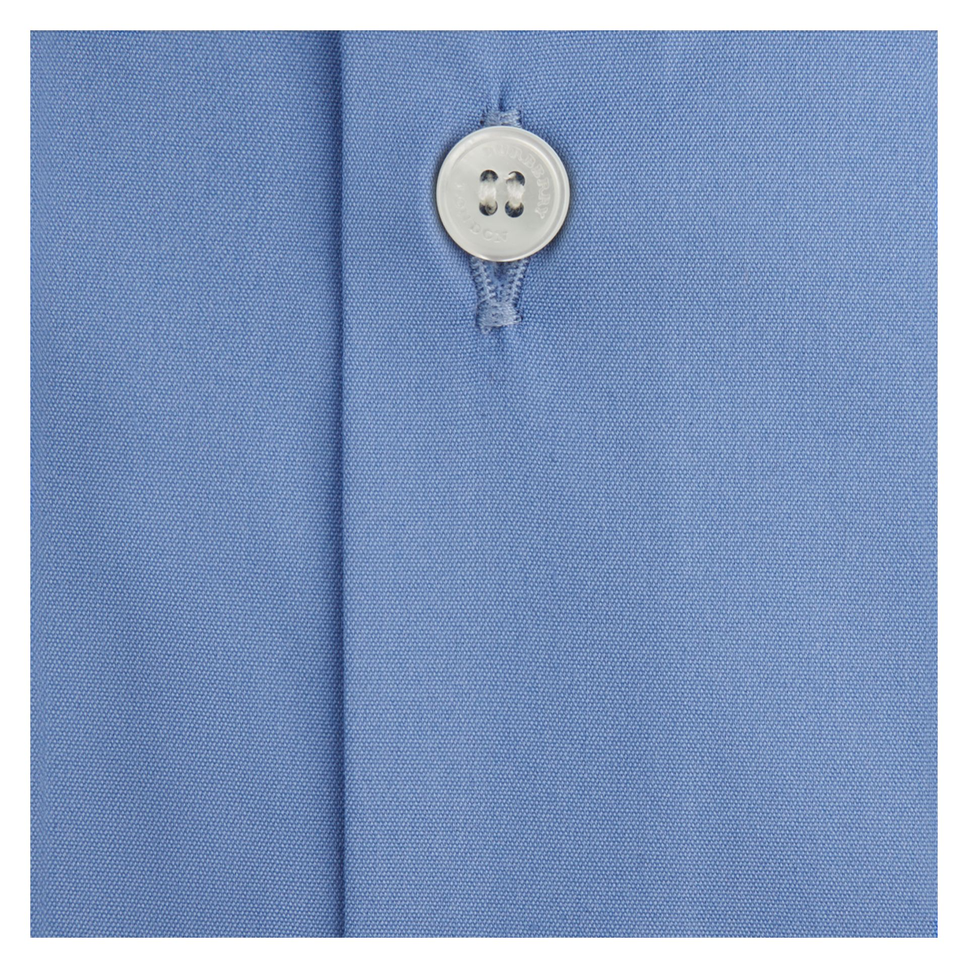 Slim Fit Stretch Cotton Shirt Mid Blue - gallery image 2