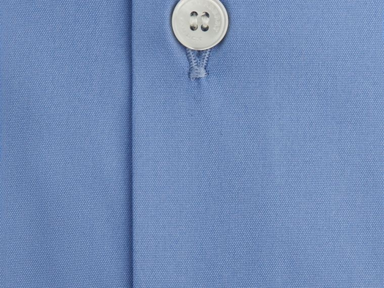 Slim Fit Stretch Cotton Shirt Mid Blue - cell image 1