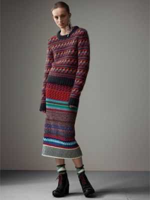 Women's Patchwork of Knits | Burberry United States