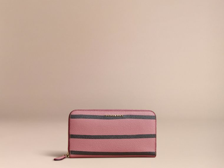 Trompe L'oeil Print Leather Ziparound Wallet - cell image 4