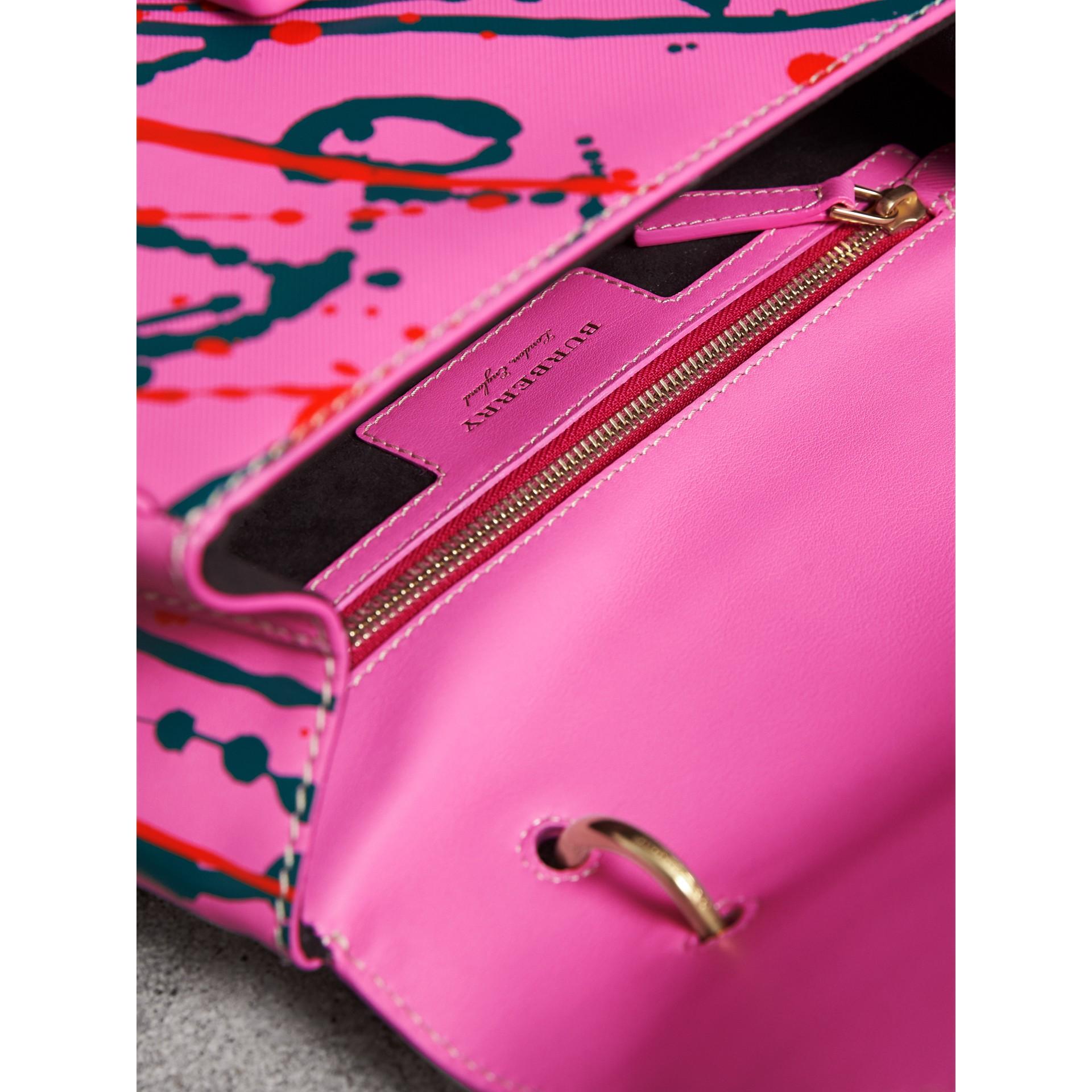 Bolsa de mão DK88 Splash - Média (Rosa Pink) - Mulheres | Burberry - galeria de imagens 6