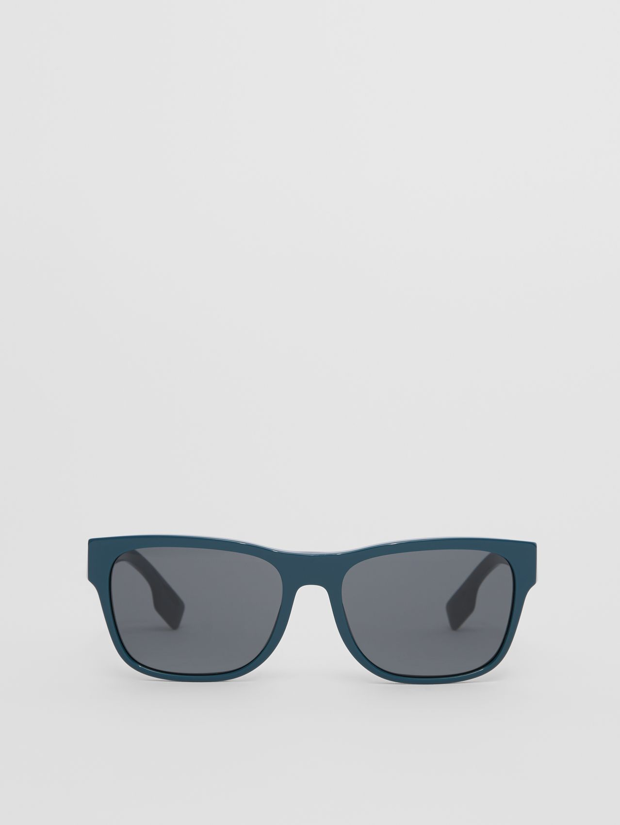Logo Appliqué Square Frame Sunglasses in Deep Blue