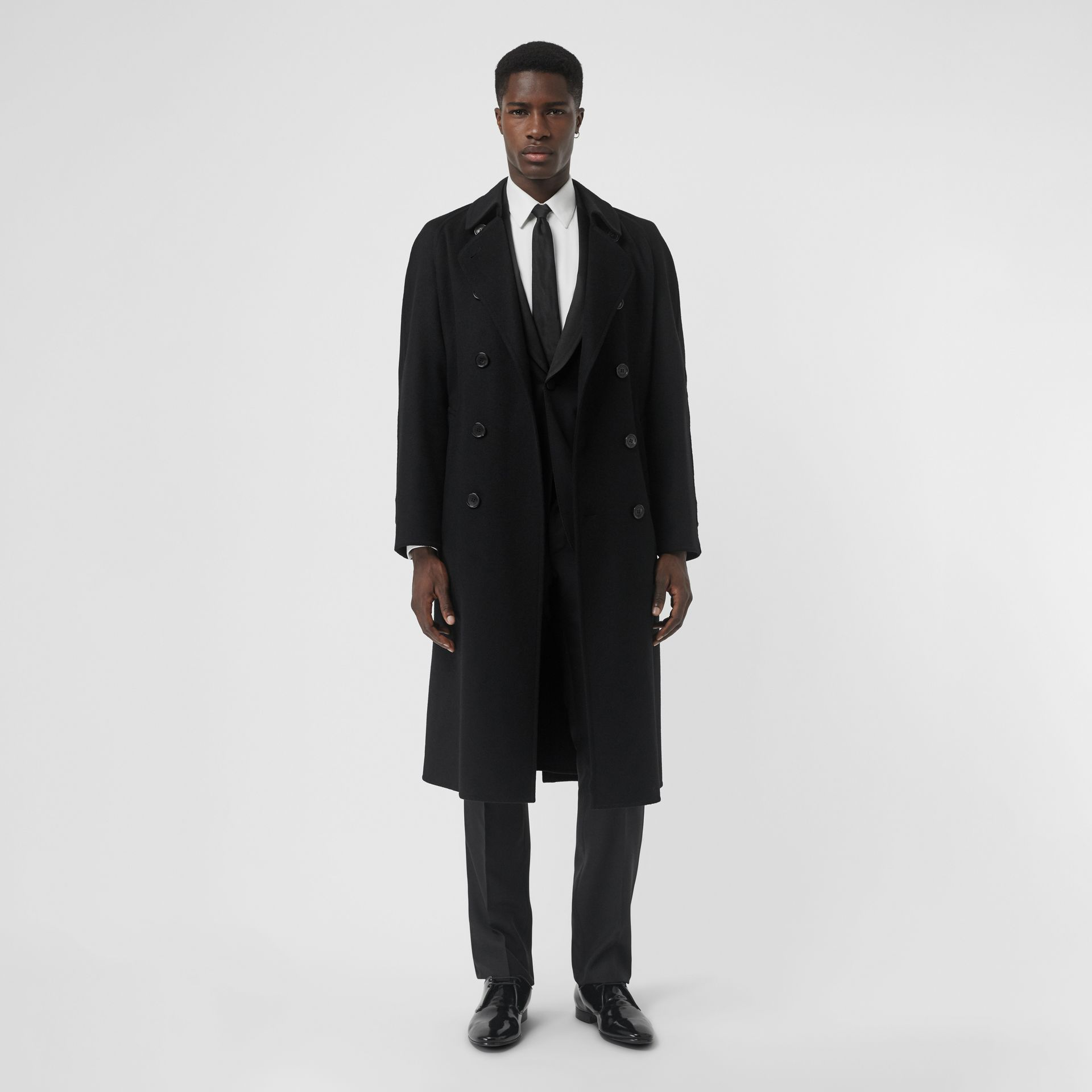Trench en cachemire double-face (Noir) - Homme | Burberry Canada - photo de la galerie 0