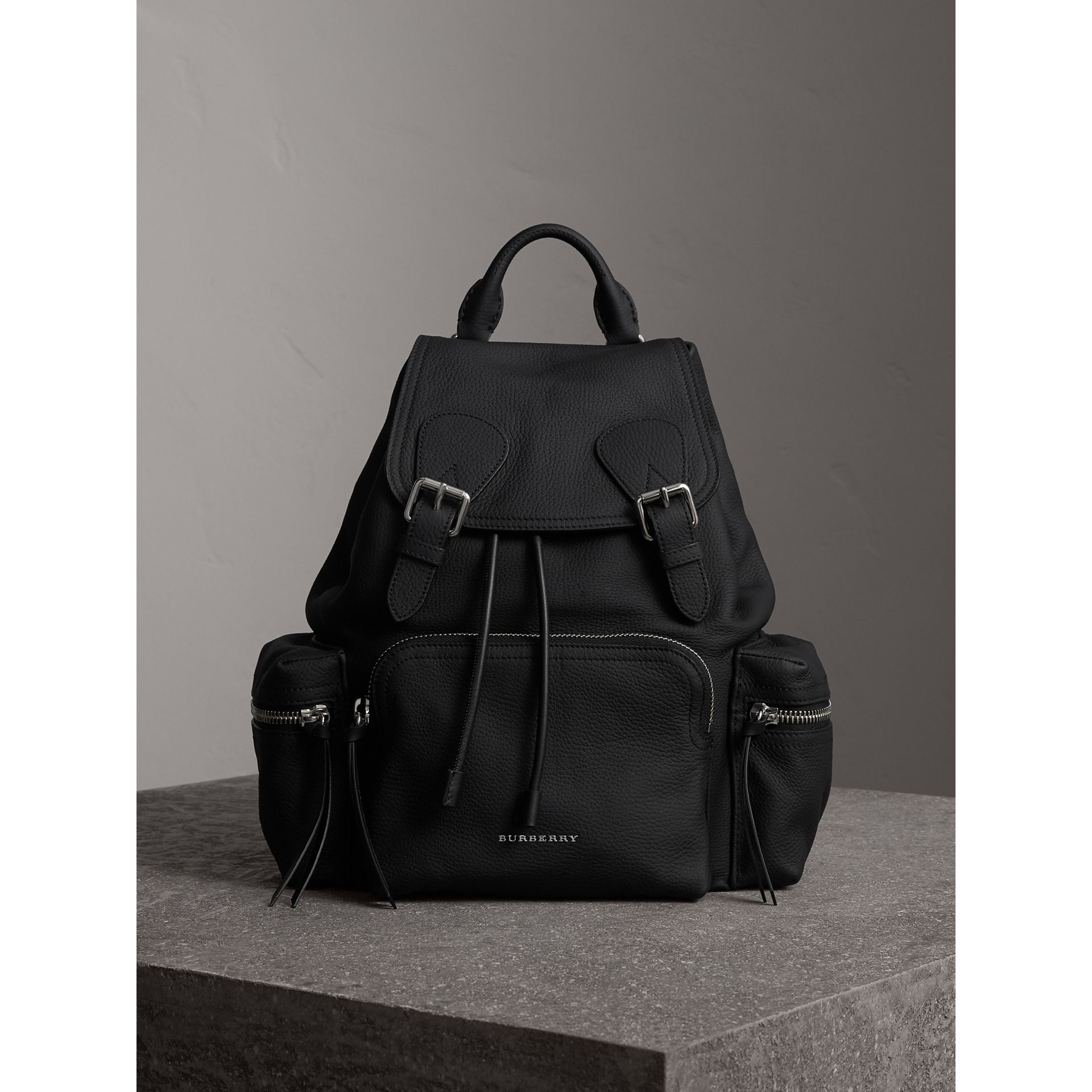 The Medium Rucksack in Deerskin with Resin Chain in Black - Women | Burberry Australia - gallery image 6