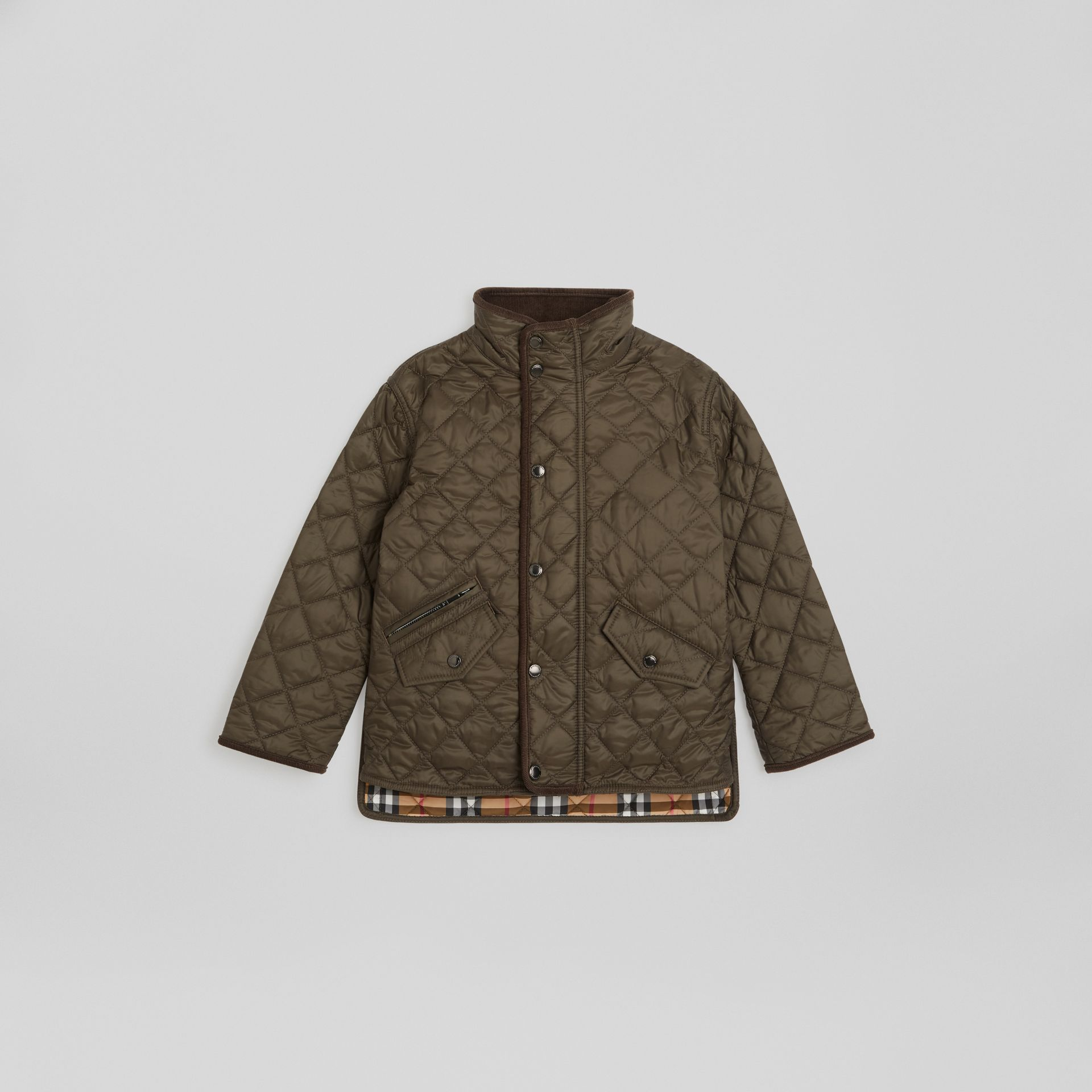 Lightweight Diamond Quilted Jacket in Olive | Burberry United States - gallery image 0