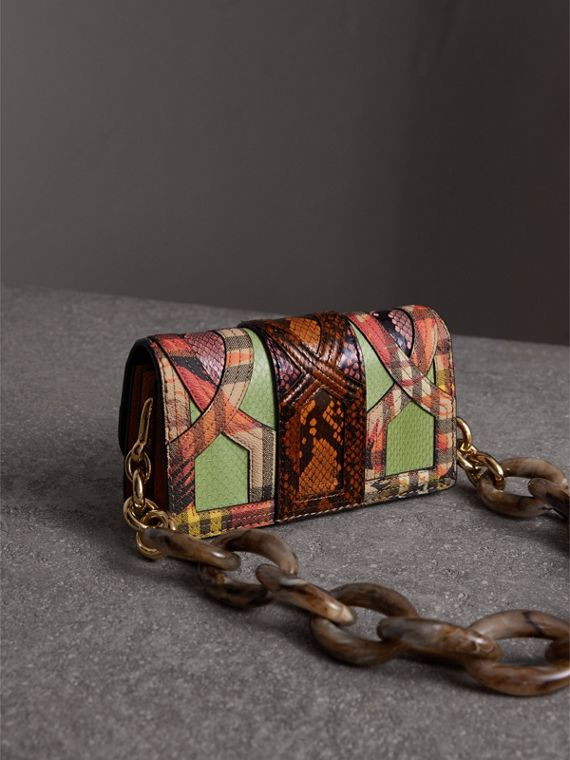 The Small Buckle Bag in Snakeskin and Floral Print - Women | Burberry - cell image 3