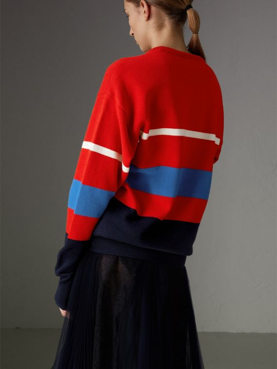 Reissued Lambswool Sweater in Red - Women | Burberry Australia - cell image 2
