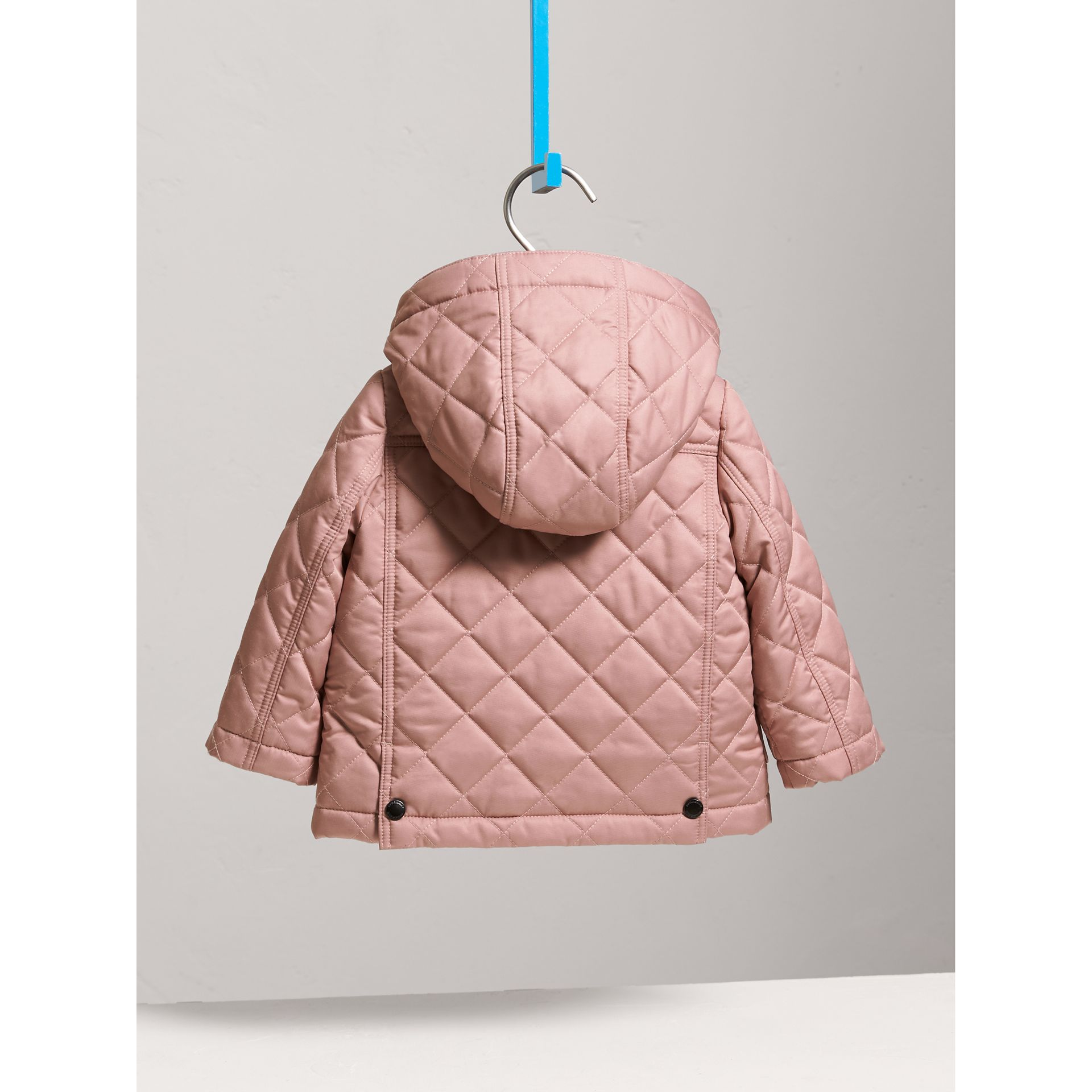Detachable Hood Quilted Jacket in Pale Rose | Burberry - gallery image 3