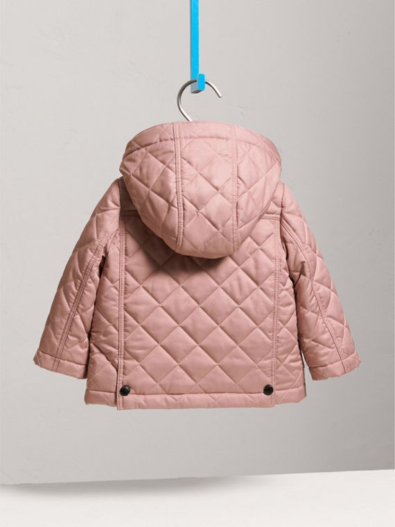 Detachable Hood Quilted Jacket in Pale Rose | Burberry - cell image 3
