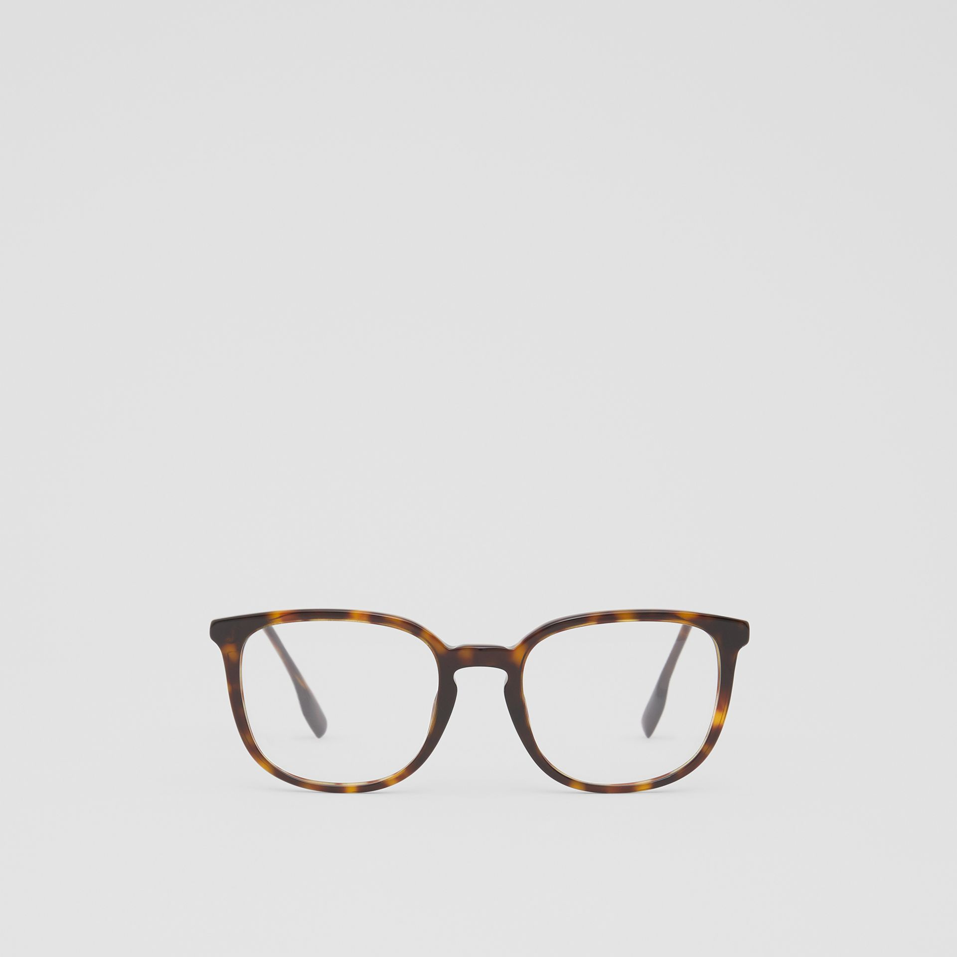 Square Optical Frames in Tortoiseshell | Burberry - gallery image 0