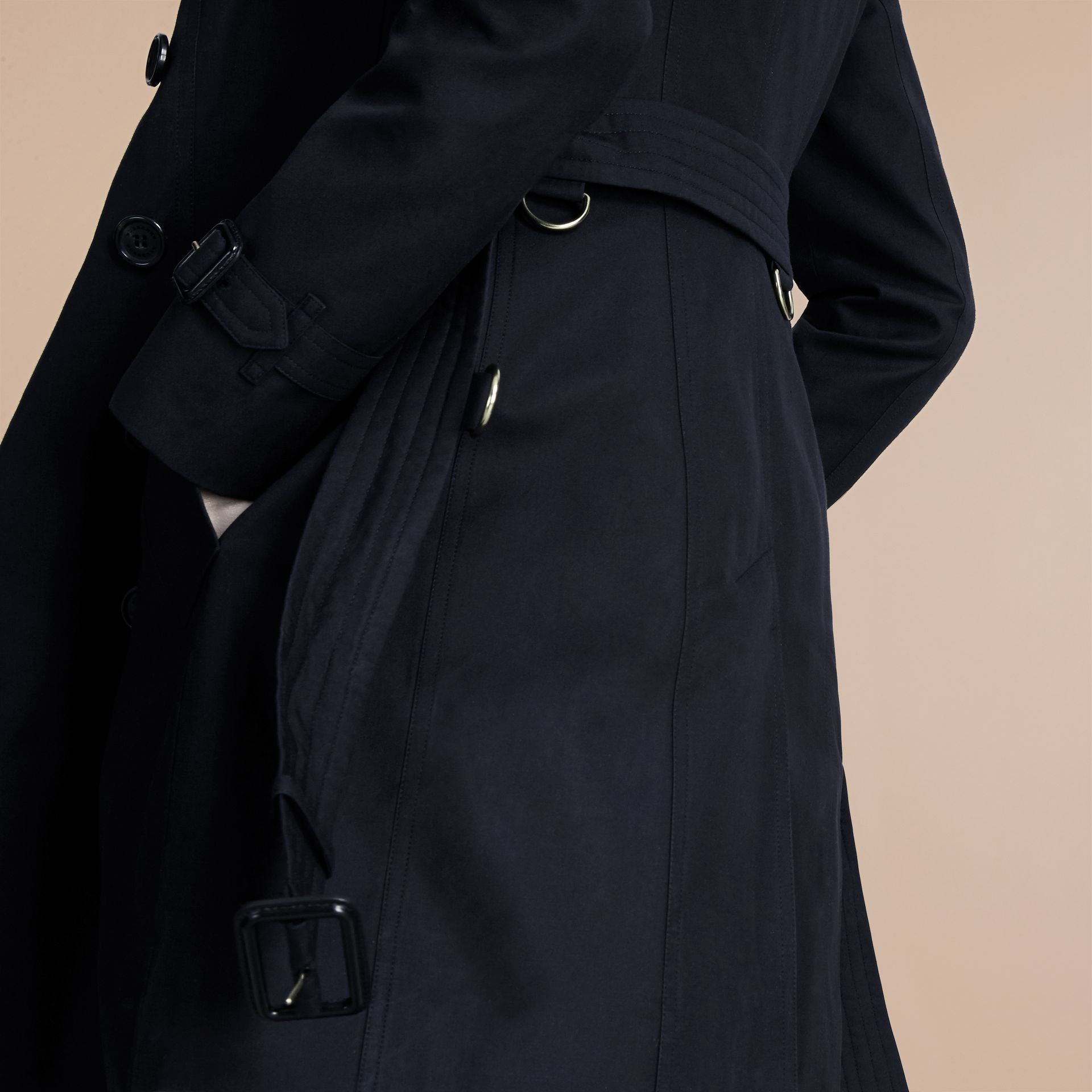 Navy The Chelsea – Mid-length Heritage Trench Coat Navy - gallery image 6