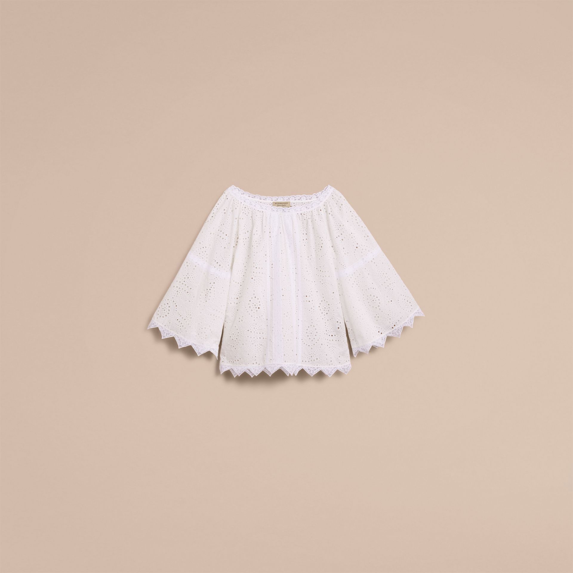 Broderie Anglaise Flared Top - gallery image 4