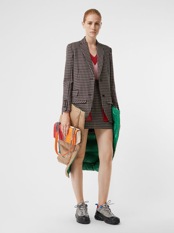 Small Quilted Colour Block Lambskin Lola Bag in Bright Red/orange - Women | Burberry United Kingdom - cell image 2