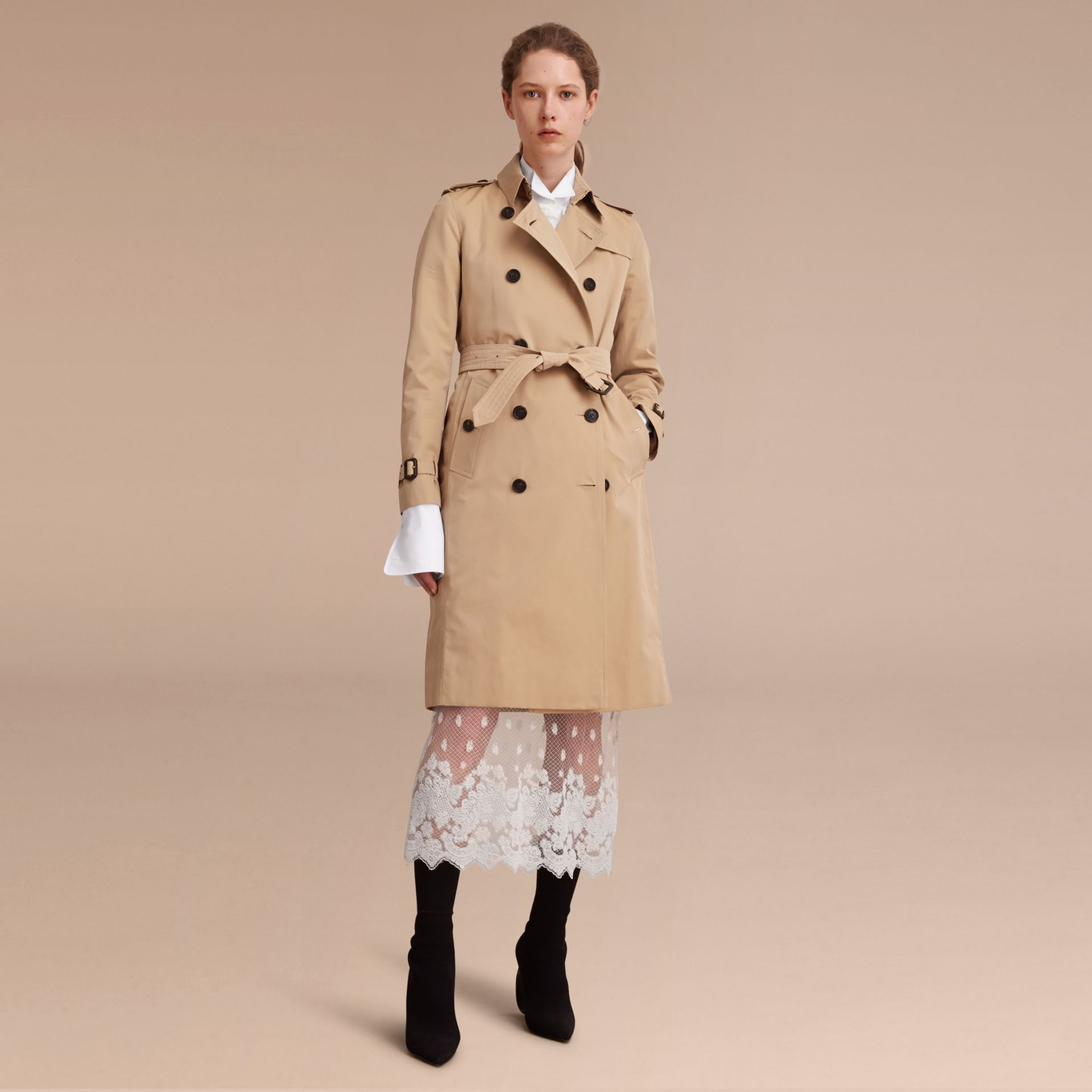 Honey The Kensington – Extra-long Heritage Trench Coat Honey - gallery image 8
