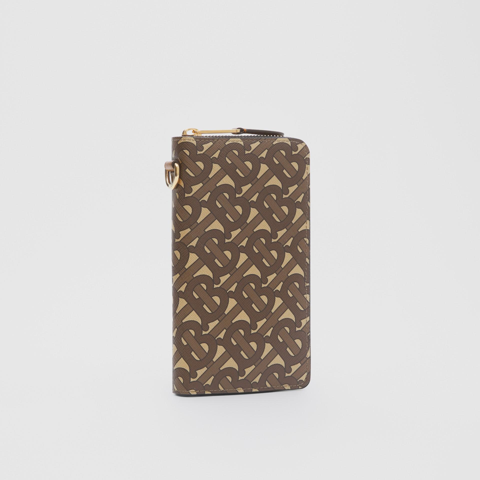 모노그램 프린트 E-캔버스 휴대폰 지갑 (브라이들 브라운) - 남성 | Burberry - 갤러리 이미지 3