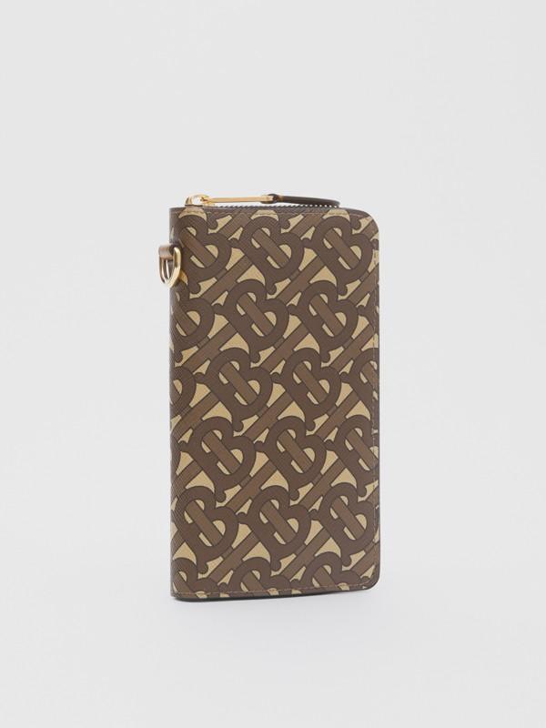모노그램 프린트 E-캔버스 휴대폰 지갑 (브라이들 브라운) - 남성 | Burberry - cell image 3