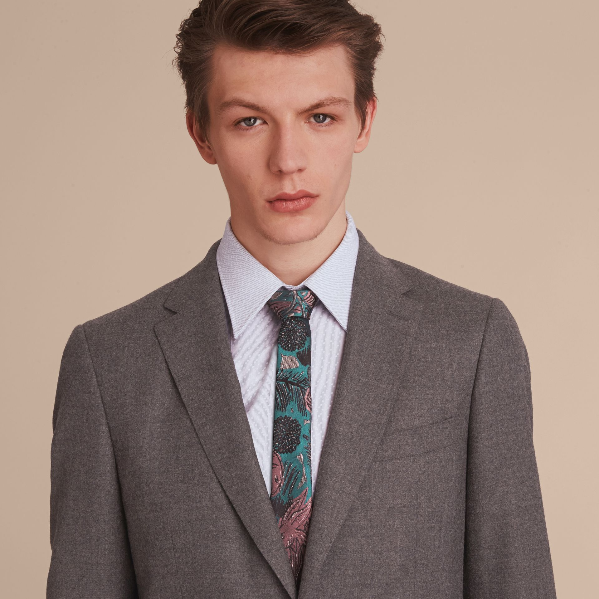 Soho Fit Wool Flannel Suit in Dark Charcoal Melange - Men | Burberry Australia - gallery image 5